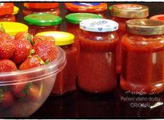 Recepty na skvělý domáci džem nebo marmeládu | NejRecept.cz Home Canning, Comfort Food, Ketchup, Salsa, Spices, Strawberry, Food And Drink, Smoothie, Jar