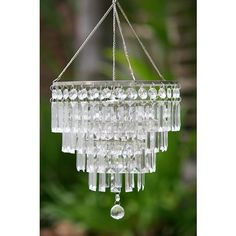 Large Crystal Pendant For Indoor And Outdoor Accent Lighting Battery Ed