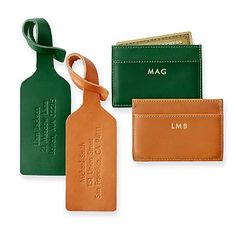 Personalized Leather Luggage Tag  Travel    Leather