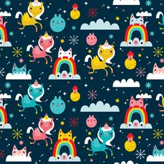 Vanessa veracruz and abigail mac abigail pinterest for Space unicorn fabric