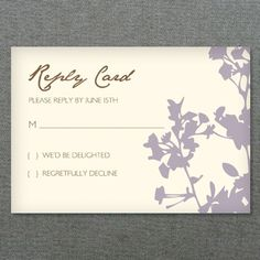Old Fashioned Typography RSVP Card Fashion typography Wedding
