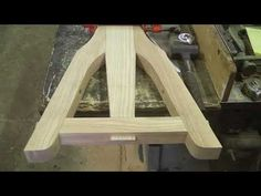 There are angled mortise & tenon joints in wagon tongues, in what are known as tongue hounds. This sheep wagon will use a short tongue and this is how I buil. Coach Shop, Blacksmith Forge, Wooden Wagon, Wood Joints, Wagon Wheel, Woodworking Videos, Mortise And Tenon, Outdoor Furniture, Outdoor Decor