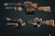 ArtStation - post apocalyptic Gun, Amanuel Yit