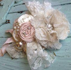 Blush Pink, Nude, Pale Blush Peach, Ivory, Fabric Flower Bridal Garter, Blush Vintage Bridal Garter, Wedding Sash, Pale Pink Sash on Etsy, $40.00