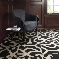 FLOR carpet tiles in LASTING GRATENESS-black