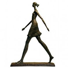 Corbin Bronze Sculpture Female Walking