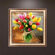 Tulip 5D Diamond Embroidery DIY Craft Painting Cross Stitch Mosaic Home Decor