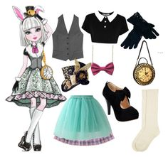 """""""Ever after high:~ bunny blanc"""" by ighgselected ❤ liked on Polyvore featuring Skool, PALLAS, Chicwish, Saro, Monsoon, women's clothing, women, female, woman and misses"""