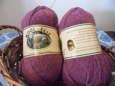 Wool Ease 4 Ply Wool Blend Worsted Weight Yarn in Dark Rose Heather Dye Lot 12909 by makersmartfinds on Etsy Cheap Yarn, Soft Purple, Poly Bags, Knitting Needles, Wool Blend, Winter Hats, Dark, Rose, Beautiful