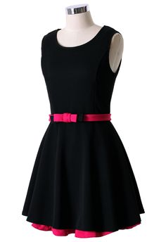 Sleveless Pleated Dress with Layer Skirt - New Arrivals - Retro, Indie and Unique Fashion