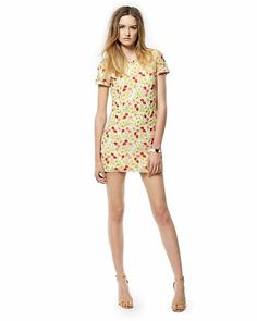 Embellished Mesh Floral Dress Juicy couture $268 EMBROIDERY AHHH