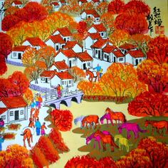 chinese peasant paintings - Google Search
