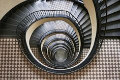 The World's Most Daring Staircases Are In This European A stunning staircase enhanced by handsomely checkered steps. This staircase is a study in 1930s and '40s modernism.City Photos | Architectural Digest