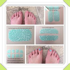 Pedicure using just two Jamberry nail wraps.