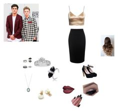 """AMAS with fiancé Jack Gilinsky and Jack Johnson"" by grahambrenna ❤ liked on Polyvore featuring Armenta, Tiffany & Co. and Alexander McQueen"