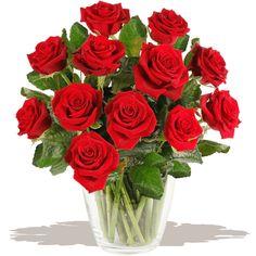 Cupid's Dozen Red Roses bouquet of flowers www.eden4flowers.co.uk
