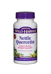 Nettle Quercetin Nettle Quercetin Description Nettle Quercetin is a combination of freeze-dried organic Nettle and Quercetin; an antioxidant flavonoid that is found in a wide variety of herbs and vegetables such as broccoli, red apples and onions. Freeze-drying has proven to be an effective method of capturing and preserving the naturally occurring compounds that are present in the stinging hairs of Nettle.  Key Benefits Support during allergen exposure