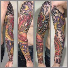 Koi Dragon, Japanese Tattoo, Koi Tattoo, Dragon Tattoo, Lotus Tattoo