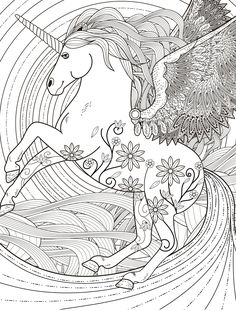 pegasus adult coloring page free download  Davlin Publishing #adultcoloring