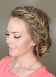 The Fishtail Braided Bun is the perfect relaxed + elegant hairstyle for any occasion.