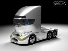 Turbine Concept, Josef Cadek,  Futuristic Design, Future Truck, Future Car, Tractor Turbine