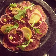 For all those beef tataki fans out there - this is the best  #tataki #beef #tokyotina #dinner #melbourne by j.zee