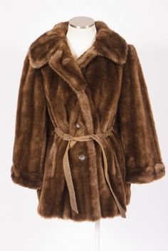 Vtg 70s Retro Plush Brown Faux Mink Fur Belted Trench Coat Duster Jacket Sz M | Clothing, Shoes & Accessories, Vintage, Women's Vintage Clothing | eBay!