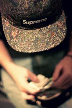 Supreme 5 panel snap - floral design. // Indie Clothing Brands & UK Streetwear || AcquireGarms.com
