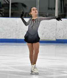 """This """"Schindler's List"""" figure skating dress has all the things that make a dress special, custom colors, dip dyed silk, and plenty of Swarovski rhinestones. Visit http://sk8gr8designs.com for more information about custom skating dresses."""