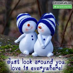 Just look around you. Love is everywhere! Romantic Couple Images, Love Couple Images, Couples Images, Cute Couple Pictures, Cute Couples, I Love You Honey, I Need You Love, Best Valentines Day Quotes, Happy Valentines Day