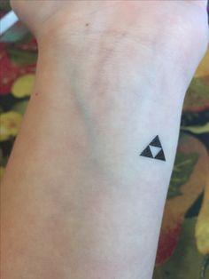 The Legend of Zelda Mini Triforce Tattoo