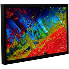 ArtWall Byron May Emotional Chaos Gallery-Wrapped Floater-Framed Canvas, Size: 12 x 18, Red