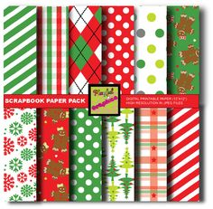 Christmas wrapping papers Digital papers by Playfulgraphics, $5.00