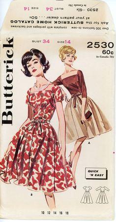 1960s Evening Full Skirt Dress Butterick 2530 Bust by CynicalGirl, $22.00