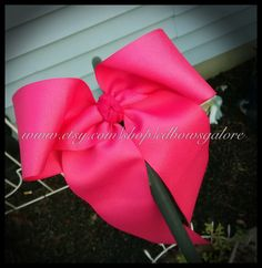 CheerBow Solid Color School Spirit Bow by cdBowsGalore on Etsy, $6.99