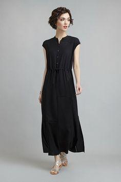 Платье из вискозы на кулиске