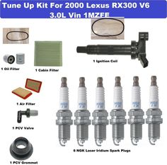 Tune Up Kit Cabin Air Oil Filters Plugs for Lexus SC430 2002-2010