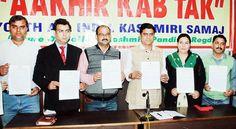 YAIKS & VPME representatives releasing vision document at Press Club Jammu.       -Excelsior/ Rakesh