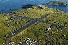 Vestmannaeyjar Airport - flew in here once!  It was gravel...