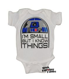 #starwars cute r2d2 i'm small but i know things licensed #baby infant snapsuit  from $19.95