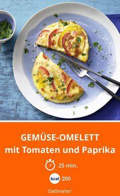 Gemüse-Omelett - mit Tomaten und Paprika - smarter - Kalorien: 200 kcal - Zeit: 25 Min. | eatsmarter.de