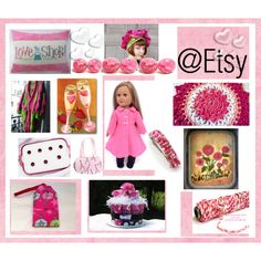 Love to Shop @Etsy by imaginebaby on Polyvore featuring Pink Doll, Wild Rose, Tejido, Valentino and vintage