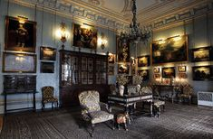 Palacio de Liria. Residencia de la Duquesa de Alba en Madrid. Salón Flamenco.