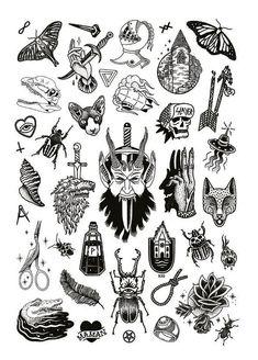 Tattoo Old School Traditional Flash Art - Tattoo Kritzelei Tattoo, Tatto Old, Dark Tattoo, Tatoo Art, Tattoo Drawings, Samoan Tattoo, Polynesian Tattoos, Poke Tattoo, Tiny Tattoo