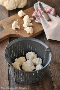Neus cocinando con Thermomix: Coliflor al vapor en cestillo o Varoma
