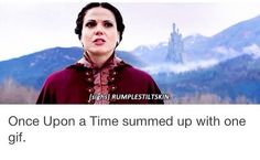 Ouat summed up in one sentence Best Tv Shows, Best Shows Ever, Favorite Tv Shows, Movies And Tv Shows, Once Upon A Time Funny, Once Up A Time, Ouat, Between Two Worlds, Outlaw Queen