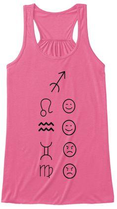 Sagittarius Love Tanks Light Neon Pink T-Shirt Front