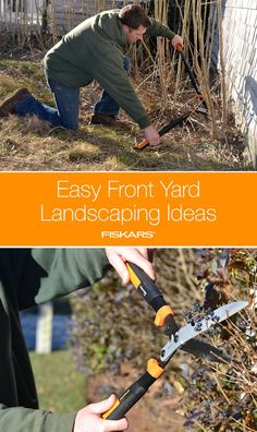 Spruce up your front yard with these simple tips and tricks. Learn how to best clear overgrown bushes or grasses with a machete axe; trim trees and bushes using a pruner, lopper or hedge shear; remove weeds and cut the lawn. Watch your home's curb appeal instantly improve!