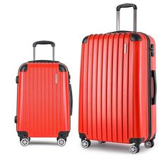Aluminium 4 Wheel Hard Luggage Suitcase Silver 28in | Buy EOFY ...