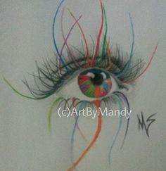"""Artistic Eye by Mandy Sowell watercolor ~ 11"""" x 8.5"""""""